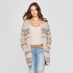 KNOX ROSE | oversized striped cardigan sweater M